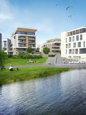 Port PHOENIX und Pier 4 | Visualisierung: Interboden Innovative Lebenswelten GmbH & Co. KG
