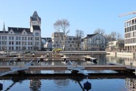 Bootsstege und Hörder Burg, Dezember 2013 | Bildrechte: nickneuwald