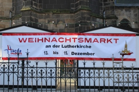 Weihnachtsmarkt an der Lutherkirche | Bildrechte: nickneuwald