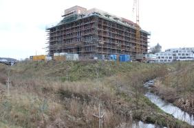 künftiges PHOENIX See living am Zusammenlauf von Emscher und Hörder Bach, Februar 2014 | Bildrechte: nickneuwald