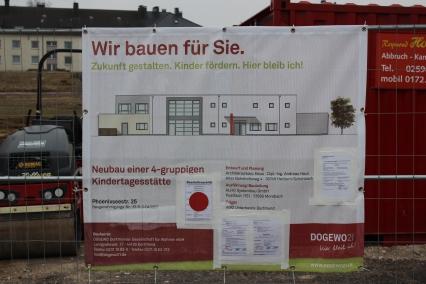 im Bau befindliche Kindertagesstätte der DOGEWO an der Phoenixseestraße | Bildrechte: nickneuwald