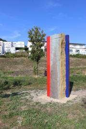 Stele aus Dolomit und Stahl von Walter Hellenthal | Bildrechte: nickneuwald